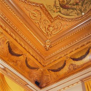 Hoekstuk met neo-renaissance ornamenten