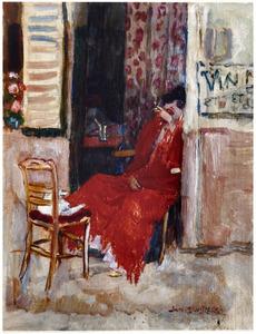 Zittende vrouw met sigaret, Parijs