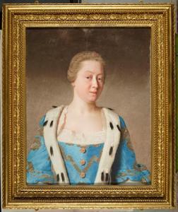 Portret van Augusta von Sachen-Gotha, Prinses van Wales (1719-1772)