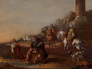 De diaken Philippus doopt de Ethiopische eunuch (Handelingen 8:26-40)