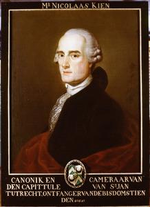 Portret van Nicolaas Kien (1701-1777)