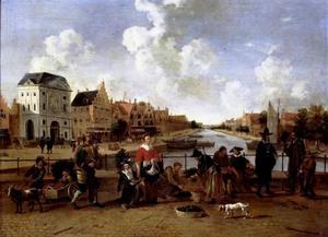 De Groenmarkt en de Stille Rijn te Leiden