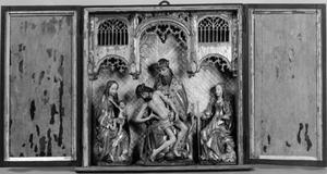 Maria met Kind, de Genadetroon en de H. Catherina