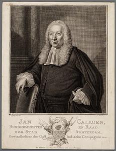 Portret van Jan Calkoen (1694-1768)
