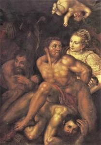 Een allegorie: Kracht overwonnen door Wijsheid en Voorzichtigheid (?)
