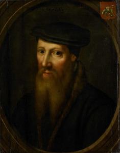Portret van David Jorisz (1501-1556), glasschilder te Delft, wederdoper
