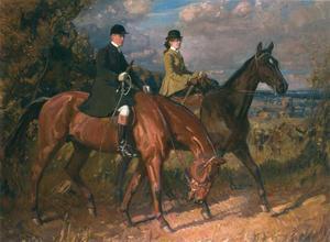 Kapitein F.G. Chamberlin en zijn zuster op Mousehold Heath, Norwich