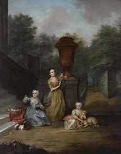 Portret van de dochters van Johan Diederik Pompe van Meerdervoort (1697-1749) en Johanna Alida Pompe van Meerdervoort (1691-1744)