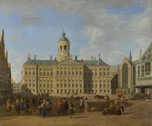Het Stadhuis op de Dam te Amsterdam