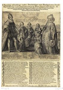 Portret van Frederik V van de Palts (1596-1632), Elizabeth Stuart (1596-1662) en vijf kinderen