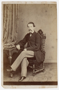 Portret van dhr. Marie Viruly (1836-1899)