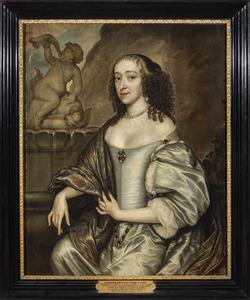 Portret van een vrouw, mogelijk Emilie van Hessen (1626-1693)