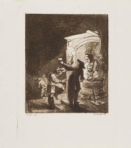 Nachtelijke scene in een herberg