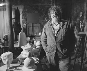 Klaus Baumgärtner in zijn atelier