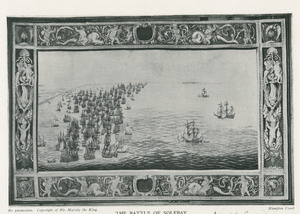 Hollandse vloot nadert de Engelse schepen