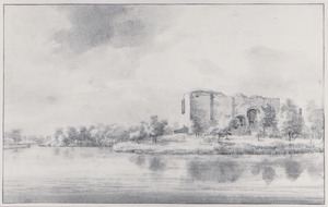 Ruïne van Te Riviere (ook wel Mathenesse) bij Schiedam