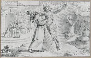 De H. Franciscus ontvangt de stigmata