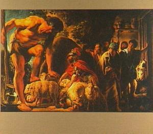 Odysseus redt zijn metgezellen van Polyphemus door hen,