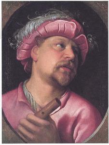 Portret van een fluitist