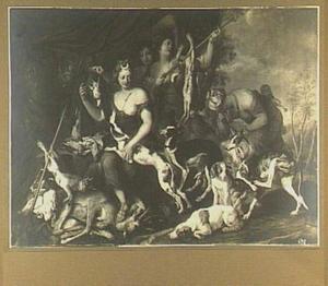 Diana omringd door nimfen, honden en jachtbuit