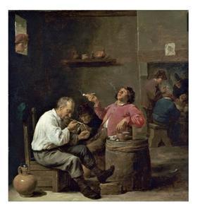 Rokende boeren in een herberg