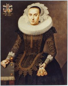 Portret van Clara van Hulten (1600-1671)