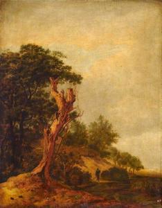 Landschap (imitatie van Jacob van Ruisdael)