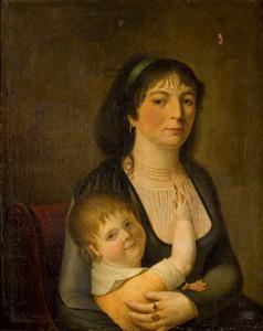 Dubbelportret van Margaretha Helena Alewijn (1776-1802) en Maia Cornelia van Wassenaer (1799-1850)