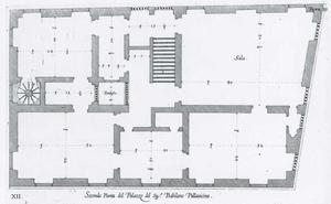 Palazzo di Cipriano Pallavicino: Plan van de hoofdverdieping