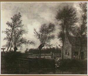 Landschap met de herberg 'Het Zwarte Varken' in Maarsseveen
