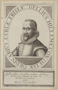 Portret van Gellius Hillema (1563-1626)