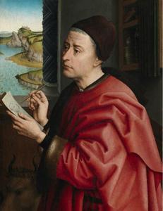 Heilige Lucas tekent het portret van Maria