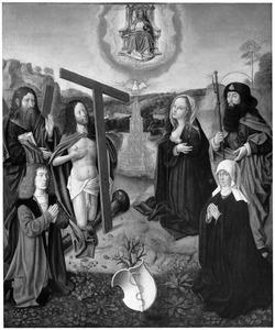 De Heilge Drieënheid met Maria, H. Jacobus, H. Andreas en stichters