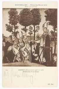 Predikende bisschop (op de achterzijde: sporen van figuren)