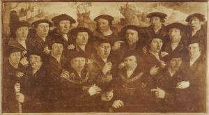 Achttien schutters van de Kloveniersdoelen te Amsterdam