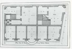 Palazzo di Cipriano Pallavicino: Grondplan