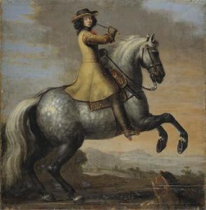 Ruiterportret van Karl XI (1655-1697), koning van Zweden