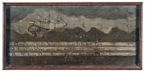 Het schip  'Edam' op wilde zee