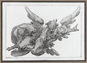 Engel met twee putti