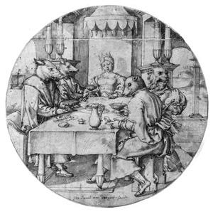 Circe verandert de gezellen van Odysseus middels een toverdrank tot varkens