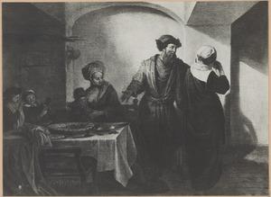 Elkana vraagt zijn vrouw Hanna, die getergd wordt door Peninna, waarom zij weent (1 Samuel 1:8)