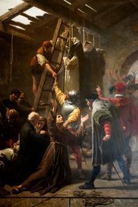De terechtstelling van de Martelaren van Gorcum in Den Briel op 9 juli 1572