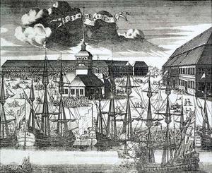 Uitzicht op het Plein van de Heilige Drieeenheid op Petrogradski-eiland