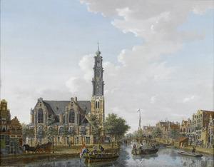 De Westerkerk en een deel van de Keizersgracht te Amsterdam