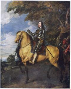 Ruiterportret van Karel I van Engeland (1600-1649) met zijn page Sir Thomas Morton (?-?)