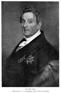 Portret van graaf Carl de Geer (1781-1861)