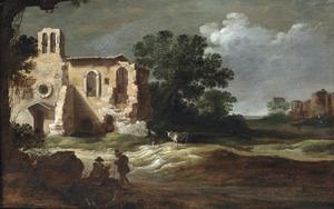 Landschap met ruïnes