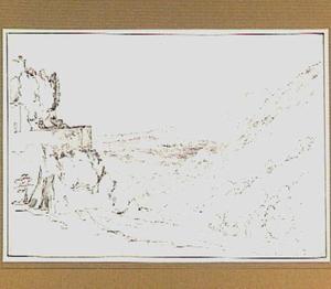 Heuvellandschap in de omgeving van Roccantica