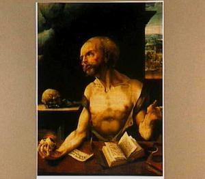 De boetvaardige H. Hieronymus in zijn studeervertrek