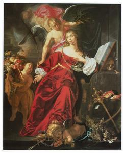 Allegorie op de overwinning van de hemelse over de aardse liefde